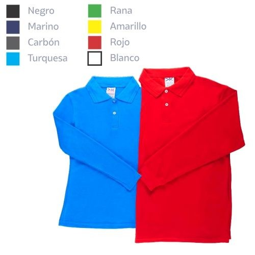 Playera Polo Manga Larga Dama