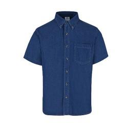 Camisa de mezclilla manga corta para caballero